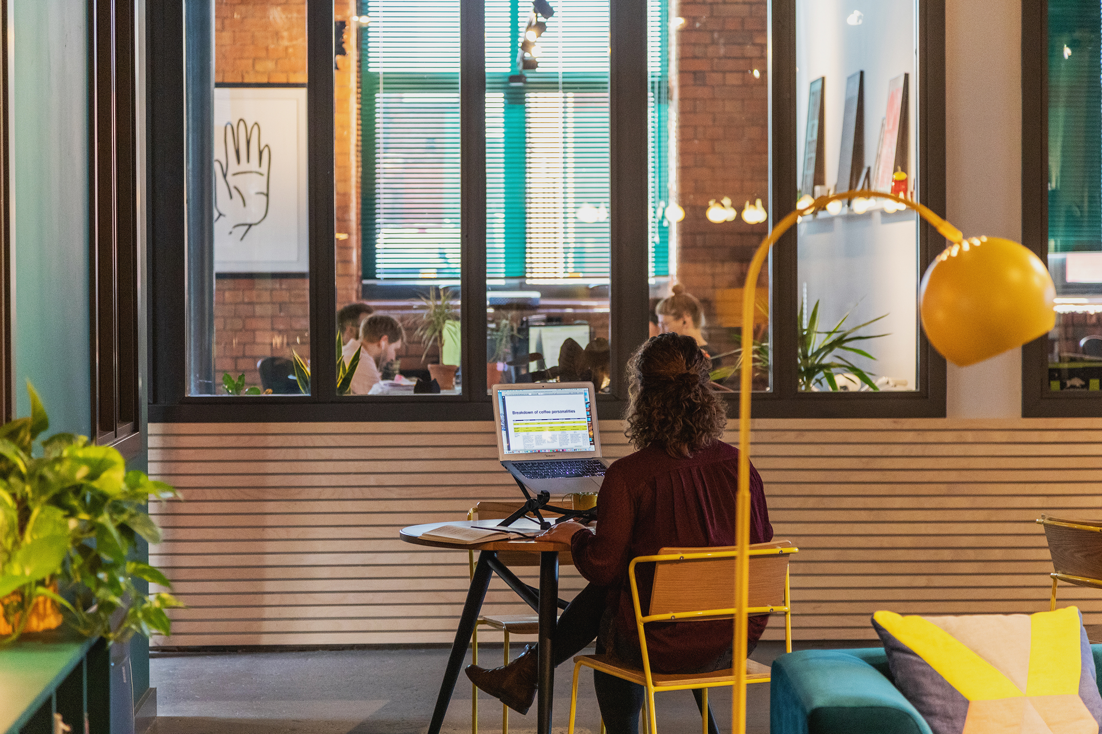 Working at Gather Round co-working space