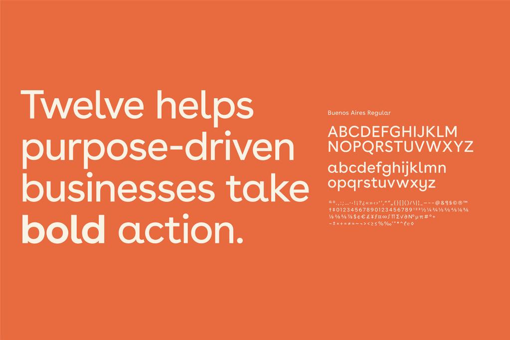 Twelve Typography by Fiasco Design