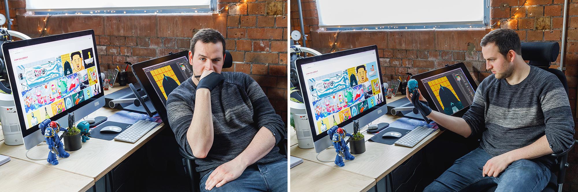 Liam Callebout at Desk