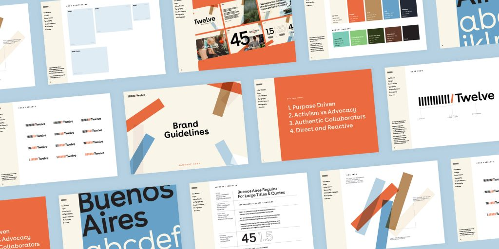 Twelve brand guidelines by Fiasco Design