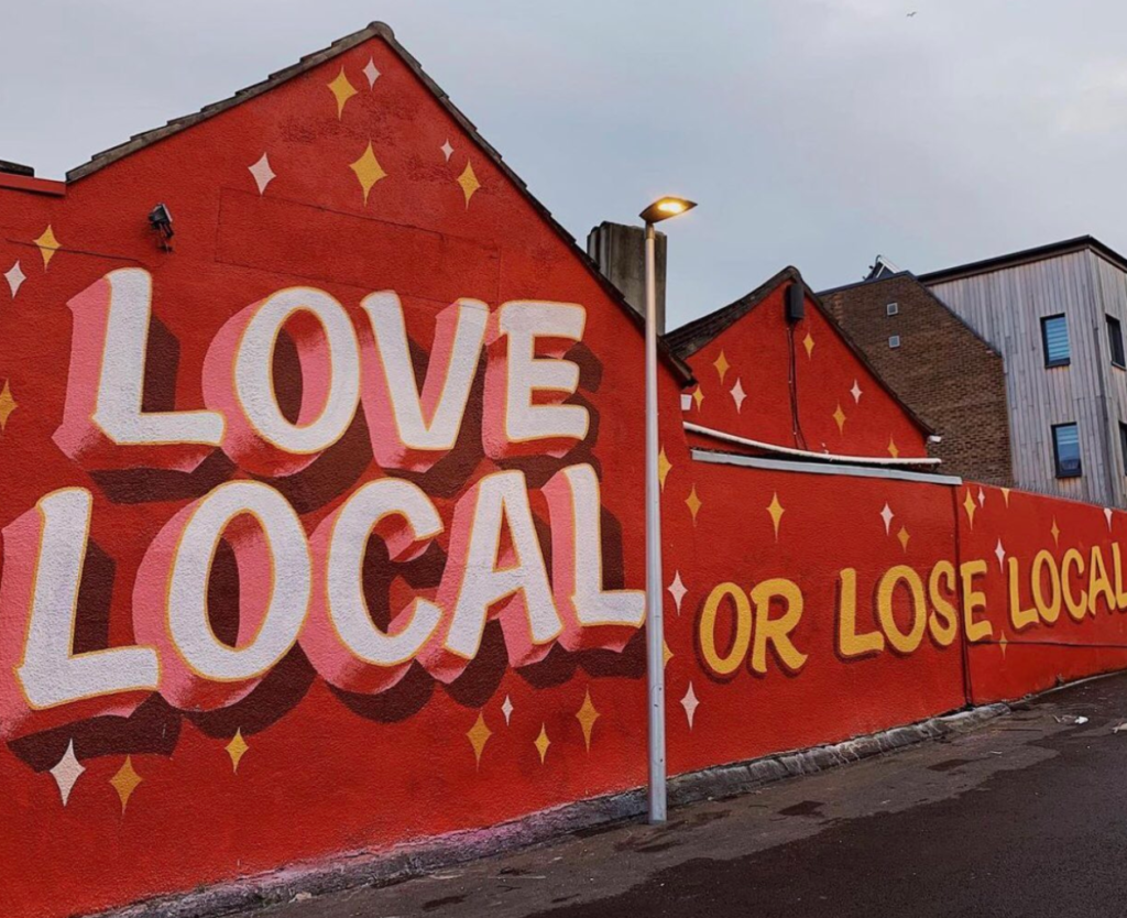 Tozer Signs - Love Local or Lose Local