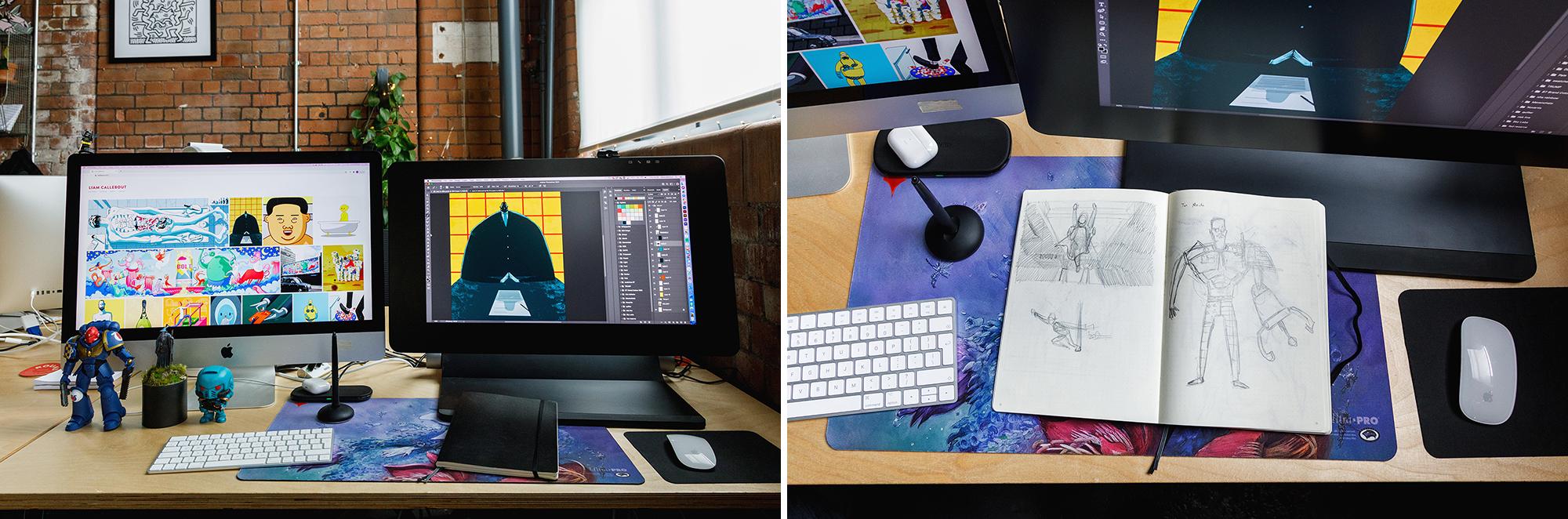 Liam Callebout desk details